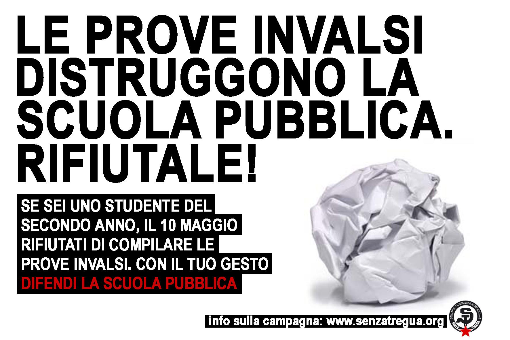 Studenti contro le prove invalsi