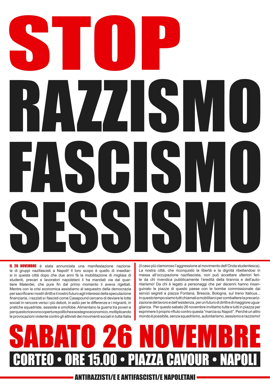 Corteo Antifascita a Napoli