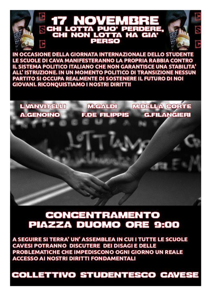 Manifesto del Collettivo studentesco cavese