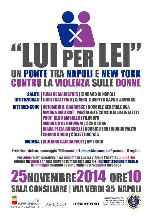Giornata Internazionale contro la violenza sulle donne Lui x Lei