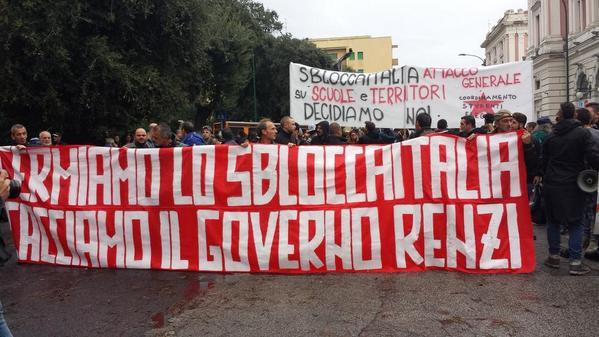 A Napoli s'incontrano i sindaci contrari allo sblocca Italia.