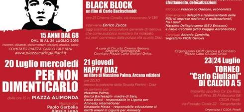 Genova 15 anni dopo per non dimenticare. Durante le giornate di Genova sarà presente una mostra del compagno Luca Pastore.