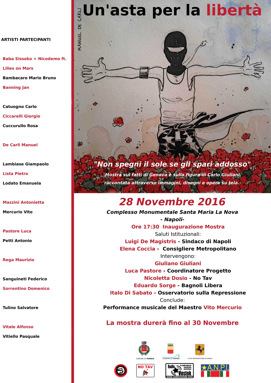 Un'asta per la libertà: presentazione Napoli
