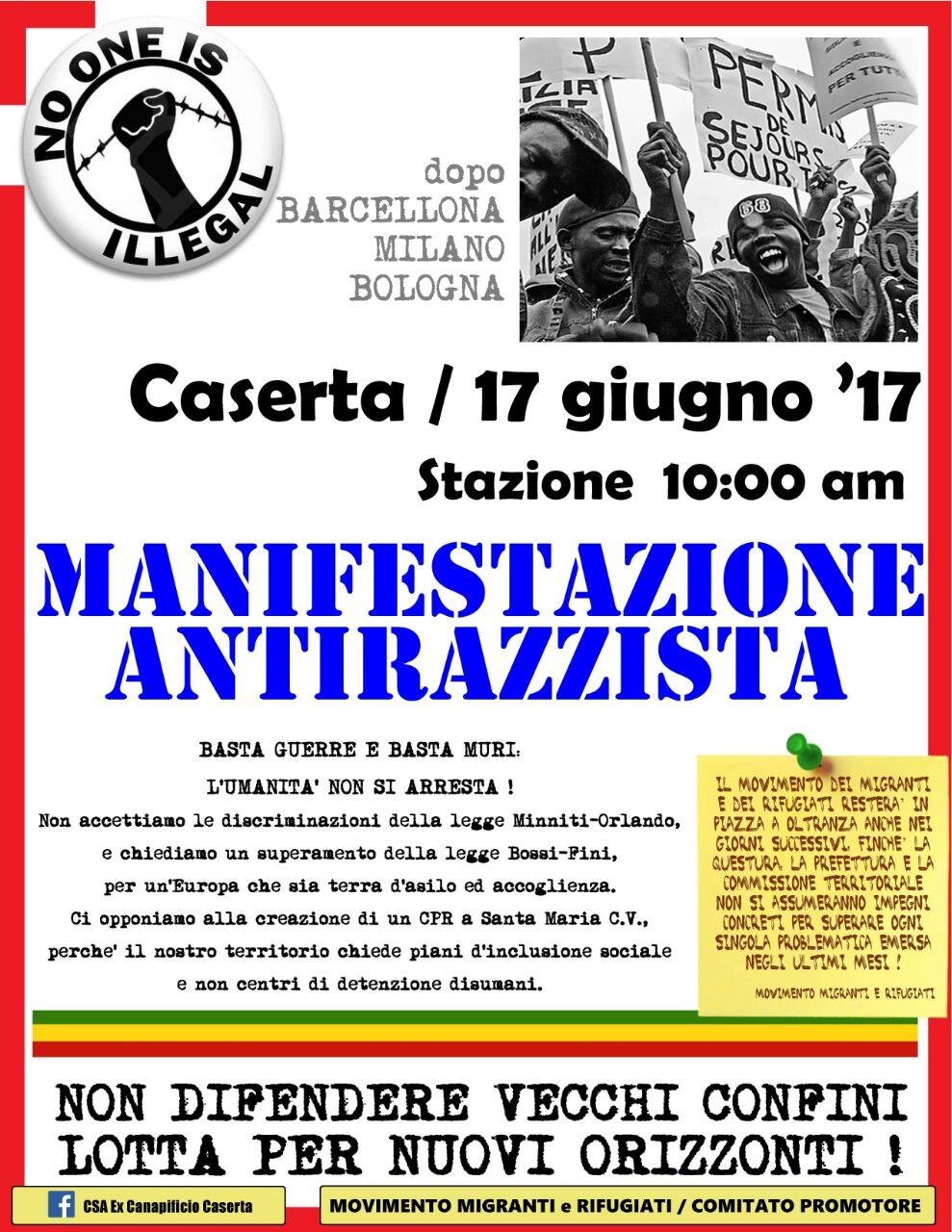 Manifestazione Antirazzista Caserta