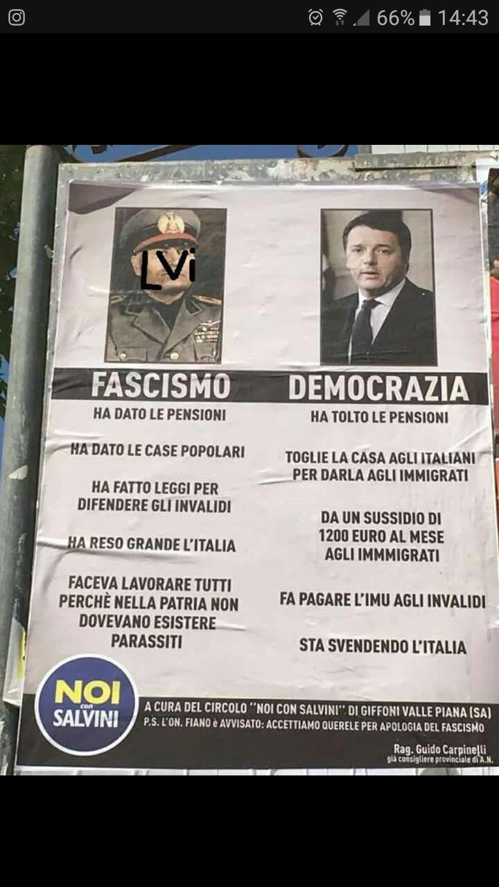 Lettera al prefetto su i vergognosi manifesti fascisti in Provincia di Salerno