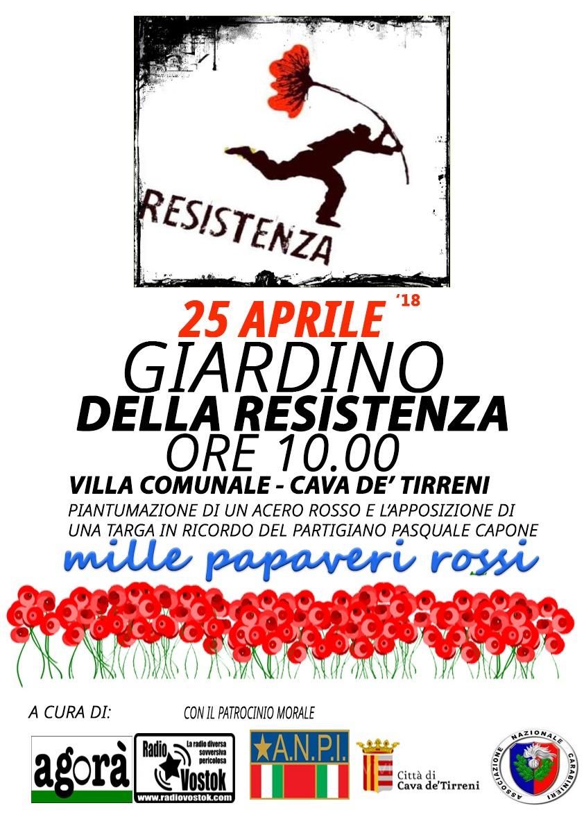 25 aprile: il giardino della resistenza a Cava