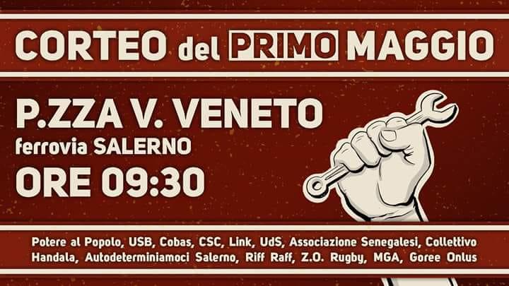 1 maggio corteo a Salerno