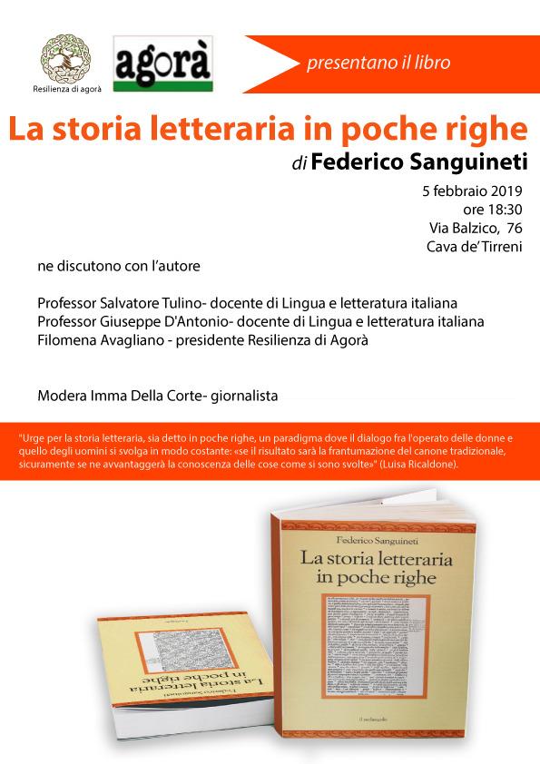 Presentazione del libro: La storia letteraria in poche righe