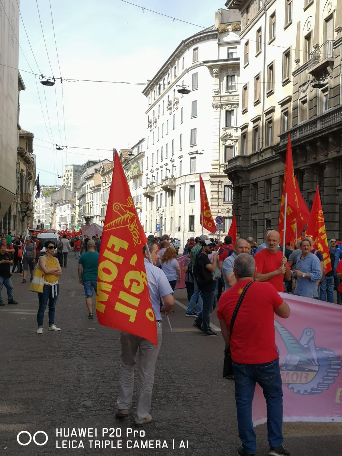 14 giugno sciopero e manifestazione dei metalmeccanici a Milano, Napoli e Firenze