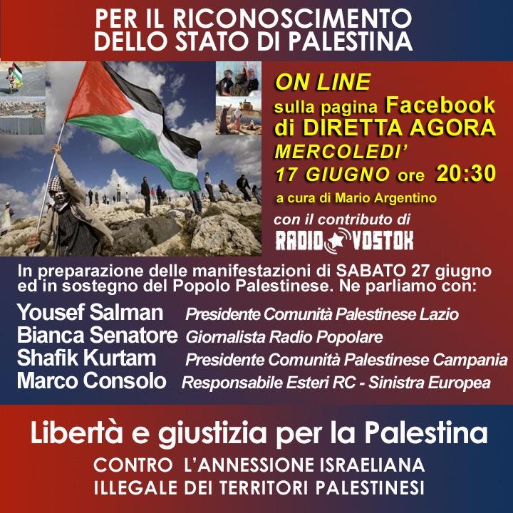 Per il riconoscimento dello Stato della Palestina